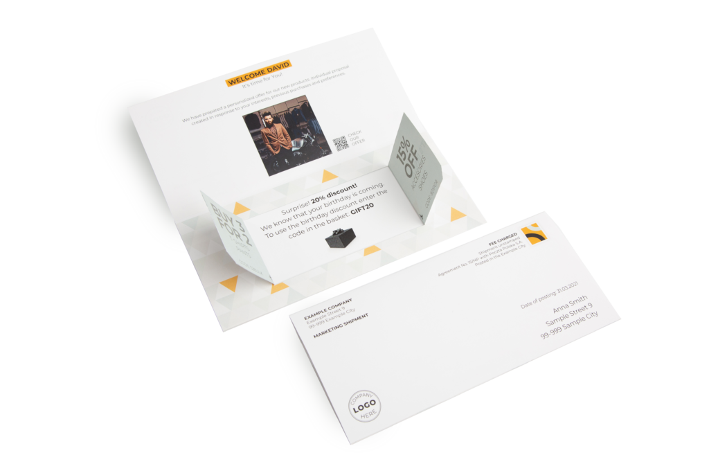 Personalized direct mail - creative forms and shapes